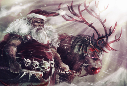 8-barbarian-warrior-santa-claus-christmas-artworks-illustrations